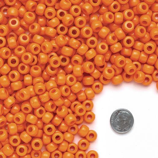 Orange Pony Beads - 1/2 lb._3