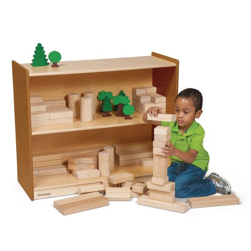 "Environments® 30"" Forest Wood Compact Shelves"