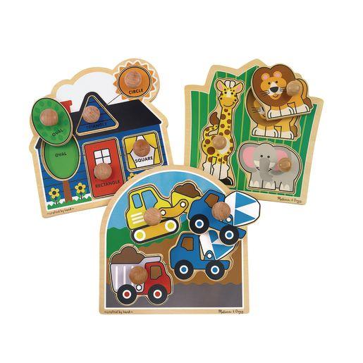 Jumbo Knob Puzzles - Set of 3