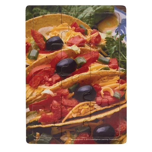 Excellerations® Multicultural Food Puzzles - Set of 6