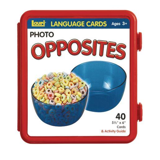 Opposites Photo Language Cards - Set of 40
