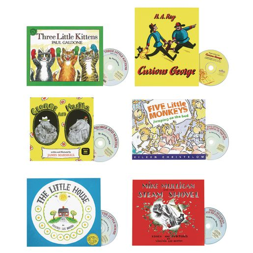 Popular Paperback Books with CDs - Set of 6_0