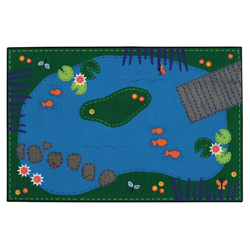 Tranquil Pond Value Plus Rug