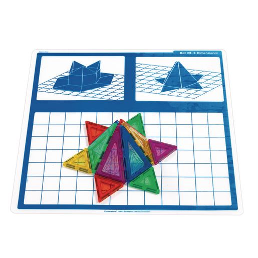 Image of Excellerations STEM Magnetic Shapes Engineering Mats - Set of 10