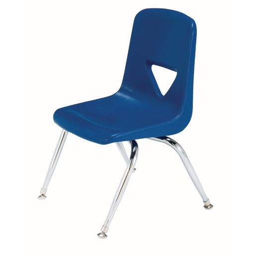 """Blue 9-1/2"""" Scholar Craft™ Stacking Chair with Chrome Legs"""