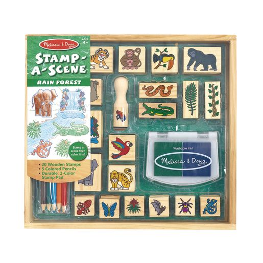 Image of Stamp-A-Scene Rainforest Stamping Set