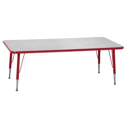 "Red 18-25""H, 24"" x 48"" Rectangle Scholar Craft™ Activity Table"
