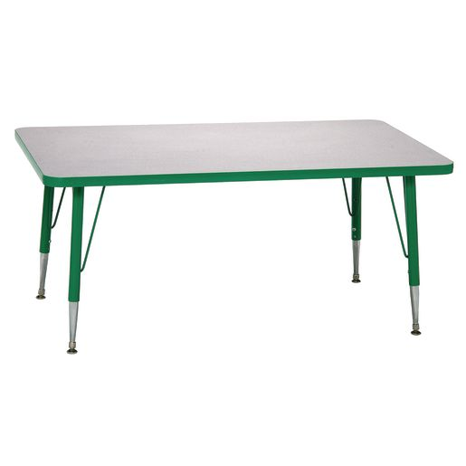 "Green 22-30""H, 30"" x 60"" Rectangle Scholar Craft™ Activity Table"