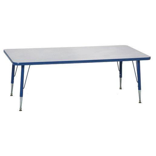 "Blue 22-30""H, 30"" x 72"" Rectangle Scholar Craft™ Activity Table"