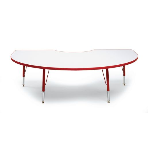 "Red 22-30""H, 48"" x 72"" Kidney Scholar Craft™ Activity Table"