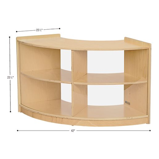 MyPerfectClassroom® 3-Piece Curved Storage Unit