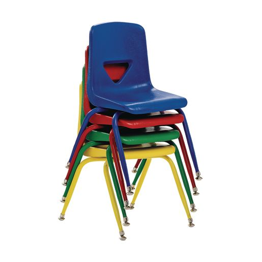 "Scholar Craft™ Stacking Chairs with Matching Legs - 13-1/2""H, Set of 5"