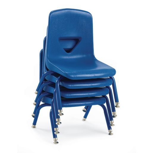 """Red 7-1/2""""H Scholar Craft™ Stack Chair with Matching Legs - Set of 5"""