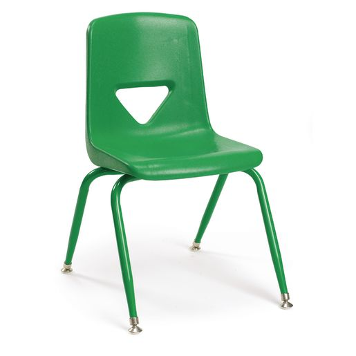 "Green 11-1/2""H Scholar Craft™ Stack Chair with Matching legs - Set of 5"