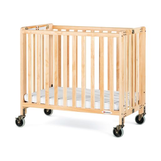 Foundations® HideAway™ EasyRoll™ Folding Crib - Natural