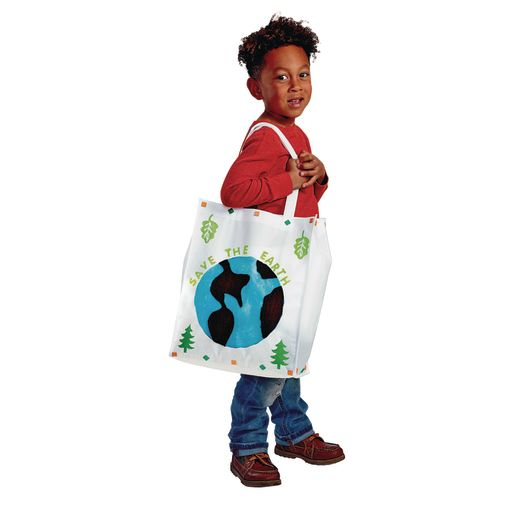 Colorations® Decorate Your Own Shopping Tote - Set of 12