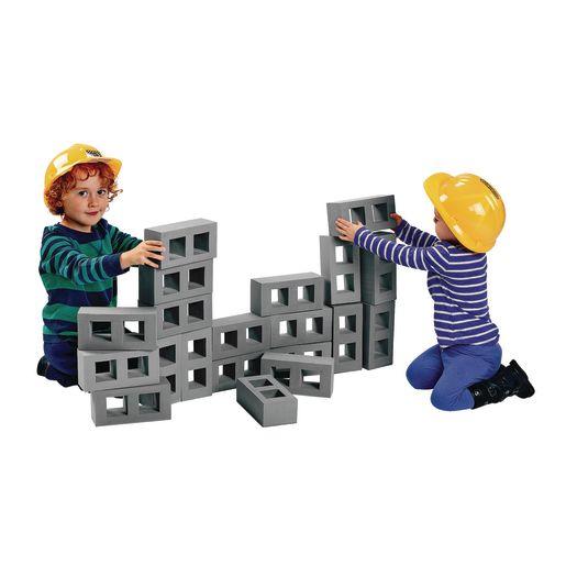 Excellerations® Masonry Foam Floor Blocks - Set of 20