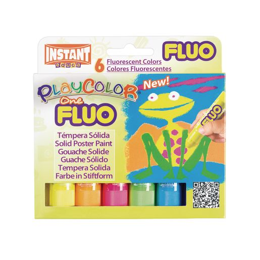 Image of PlayColor Fluorescent Tempera Sticks - Set of 6