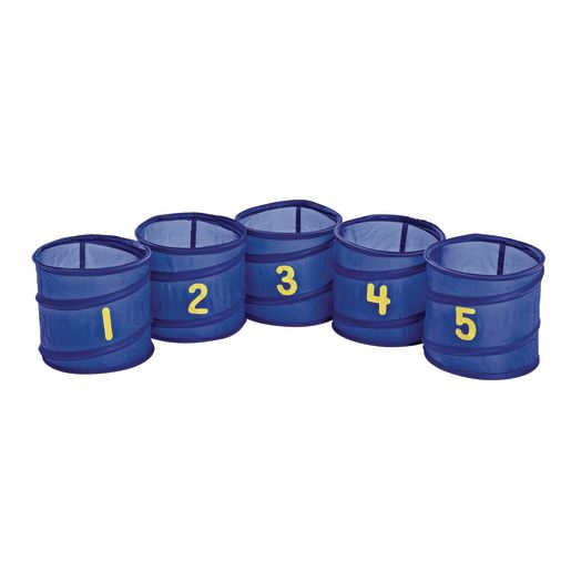 Image of Excellerations Number Tossing Baskets - Set of 5