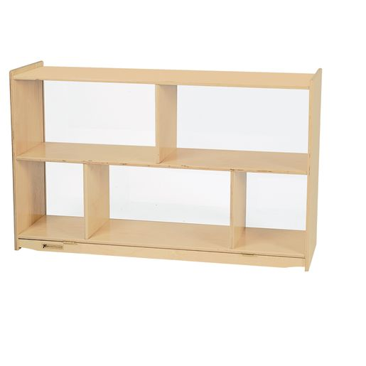 Image of MyPerfectClassroom Divided Shelf Mobile Storage with Clear Back