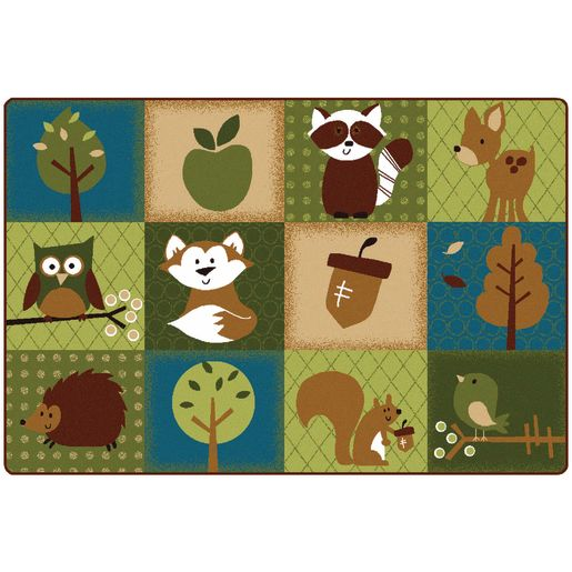 Nature's Friends 4' x 6' Rectangle KIDSoft Premium Carpet