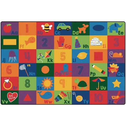 Sequential Seating Literacy 8' x 12' Rectangle Premium Carpet