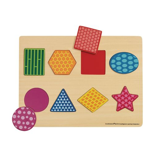 Excellerations® Colorful Wooden Puzzles - Set of 4