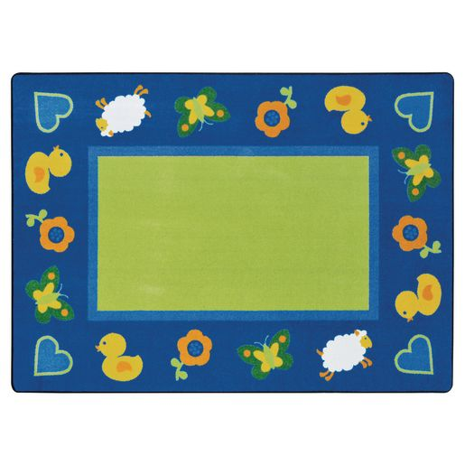 "Green Space Infant Carpet -  3'10"" x 5'4"" Oval"