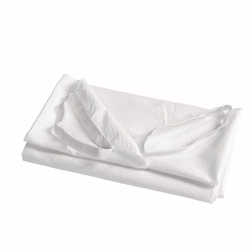 Angels Rest® White Toddler Cot Sheet, Set of 5
