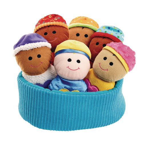 Excellerations® Plush Basket of Sensory Babies - 7 Pieces_0