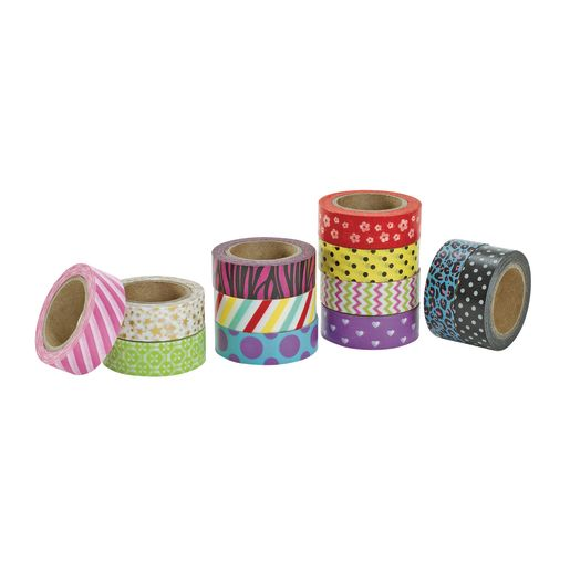 Colorations® Whimsical Printed Craft Tape - Set of 12
