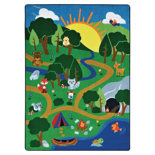 """Happy Forest Carpet -  5'4"""" x 7'8"""""""