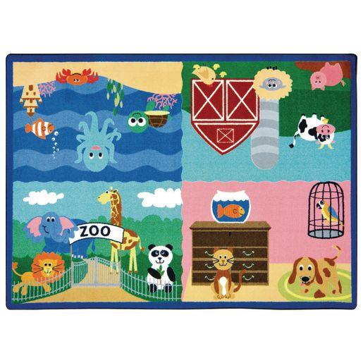 "Animals All Around Carpet - 5'4"" x 7'8"""