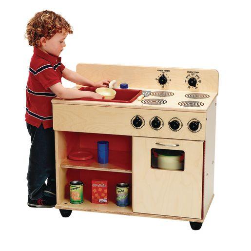 Angeles® Value Line Birch Preschool 2 in-1 Kitchen