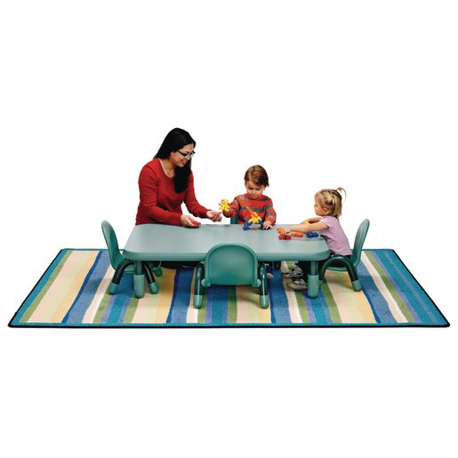 "Angeles® BaseLine® Rectangular Toddler Table & Chair Set - 48""L x 30""W x 12""H w/4 Chairs"