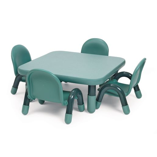 "Angeles® BaseLine® 30"" Round Toddler Table & Chair Set - Teal"