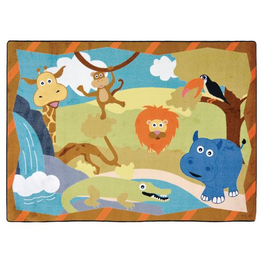 "Jungle Babies Carpet - 3'10"" x 5'4"" Rectangle"