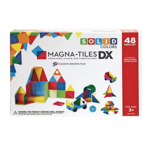 Magna-Tiles® Solid Colors- 48 Piece DX Set