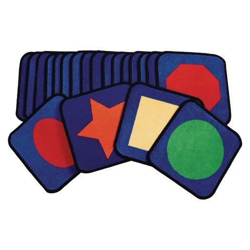 """Grid Seating Carpet Squares - 14"""", Set of 20"""