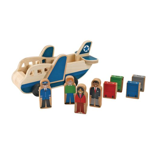 Image of Wooden Airplane Playset