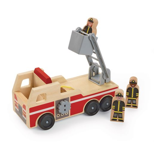 Wooden Fire Truck Playset