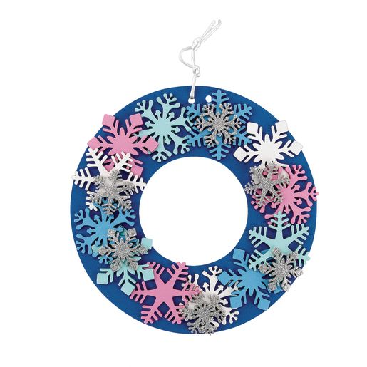 Image of Colorations Wonderful Winter Foam Wreath - Kit for 12