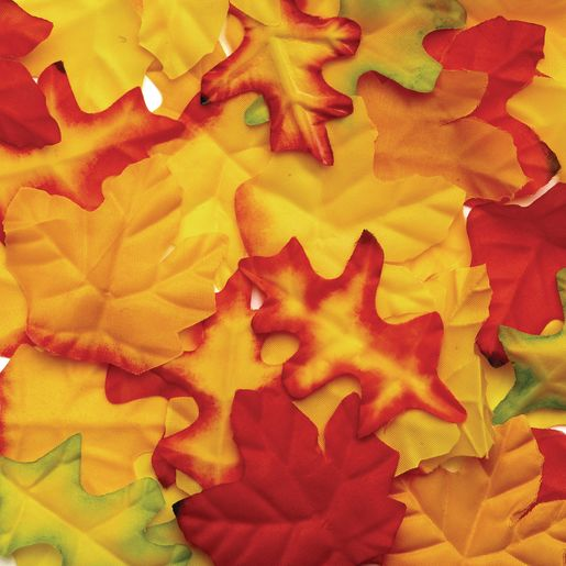 Colorations® Fabric Fall Leaves - 200 Pieces