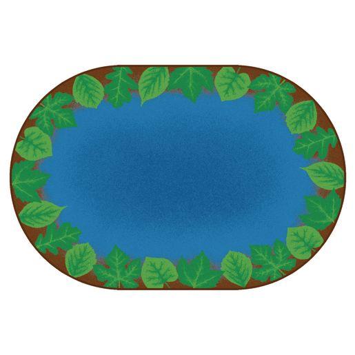 Medium Harmony Leaf Places Carpet - 6' x 9' Oval