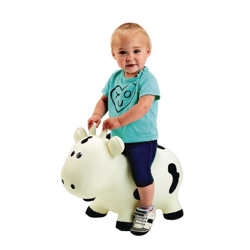 Easy-Inflate White Cow Hopper