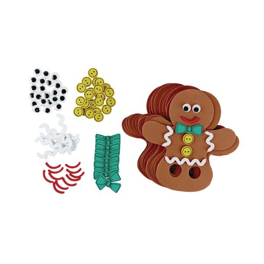 Image of Colorations Gingerbread Finger Puppet - Kit for 12