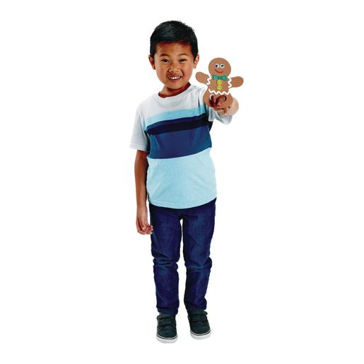Colorations® Gingerbread Finger Puppet - Kit for 12
