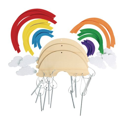 Colorations® Rainbow Wind Chimes - Kit for 12