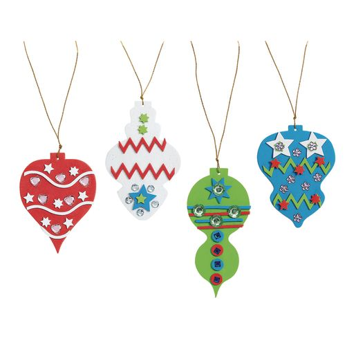 Image of Colorations Fancy Foam Ornaments - Kit for 12