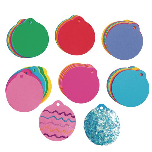Colorful Paper Ornament Shapes - Pack of 100_1